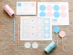 Baby Shower Labels & Baby Shower Favor Labels | Pottery Barn Kids  Pottery Barn has a space on their site with ideas, freebies to print off, etc...