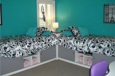 bedrooms for 4 teenage girls vintage - Google Search