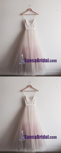 Newest Unique Floor-Length Spaghetti Straps Prom Dresses, Pretty Fashion Cheap Evening Dress, PD0709