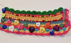 Rainbow hearts cuff bracelet crocheted by artbyesely on Etsy Yarn Bracelets, Beaded Braclets, Crochet Bracelet, Orange And Turquoise, Rainbow Heart, Elsa, Needlework, Coin Purse, Crochet Patterns