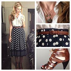 styling a midi- Karla Reed's instagram