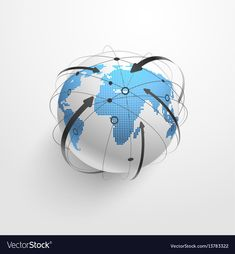 Global network vector image on VectorStock Great Logos, Adobe Illustrator, Vector Free, Connection, Logo Design, Pdf, Internet, Technology, Digital