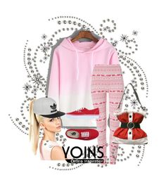 """Romwe conteshttp://www.romwe.com/Hooded-Pink-Ombre-Loose-Sweatshirt-p-135384-cat-673.html?utm_source=polyvore&utmt"" by dinka1-749 ❤ liked on Polyvore featuring Vans and adidas"
