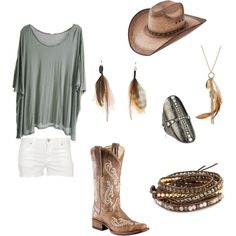 summer country concert, created by stephjohnson24 on Polyvore