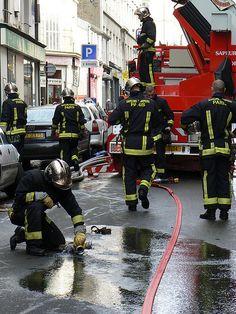 Paris firefighters