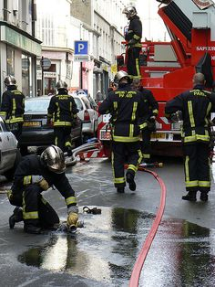 Paris firefighters