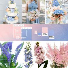 Los dos colores del año para bodas, Rosa Cuarzo y Azul Serenidad, una gran paleta de colores para combinar. #DecoracionBodasCali