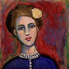 Vienne - Original Portrait Painting by Roberta Schmidt - ArtcyLucy on Etsy