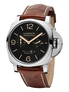 Panerai Luminor 1950 Equation of Time 8 Days Acciaio (PAM 00601), com caixa de 47 mm de diâmetro.