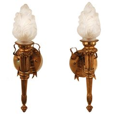 Pair of 1930's Torch Wall Sconces | From a unique collection of antique and modern wall lights and sconces at https://www.1stdibs.com/furniture/lighting/sconces-wall-lights/