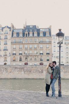 less-stereotypical Paris engagement pic