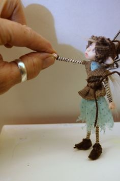 Common house TINKER pixie FAIRY (80 ) ooak poseable ART doll by DinkyDarlings by DinkyDarlings on Etsy