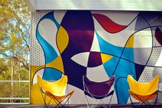 A look inside what was once 'the most talked about house in Sydney' – the modernist home renowned architect Harry Seidler designed for his parents back in Creative Wall Painting, Creative Walls, Mural Art, Wall Murals, Inspiration Wall, Mosaic Patterns, Designs To Draw, Simple Designs, Mid-century Modern