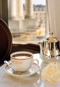 Hot Chocolate at Angelina, Paris.