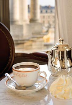 Hot Chocolate at Angelina, Paris.
