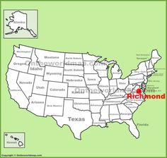 Kansas City location on the US Map Maps Pinterest Kansas and