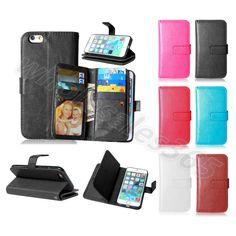 For Nokia Sony Synthetic Leather Plain Card Pocket Stand Dual Closure Case Cover #UnbrandedGeneric #CardPocketMoneySlotStandMagneticFlip