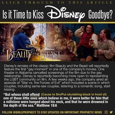 """207 Likes, 22 Comments - Bible Prophecy (@bibleprophecy) on Instagram: """"CLICK THROUGH TO THIS ARTICLE:""""Is it Time to Kiss Disney Goodbye?""""…"""""""