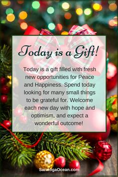 Every new day is special! If you let go of the past, and welcome each day with an open heart, you will see many gifts all around you. Release any burdens that you hold in your mind, and look for small surprises to be grateful for. Namaste and have a beautiful day! <3