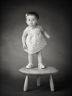 Baton Rouge Children photographer Aaron Hogan captures Emma Catherine's adorable personality on her 1 year old birthday.