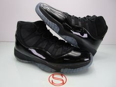 Details about Nike Air Jordan XI Retro 11 Cap And Gown Black Black LIMITED  378037 005 Size 10 3b586b5f83a8