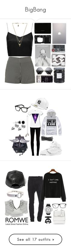 """BigBang"" by vittoria-saggiomo ❤ liked on Polyvore featuring Boutique, Motel, Givenchy, NARS Cosmetics, House of Harlow 1960, Samsung, Threshold, Avery, New Era and dVb Victoria Beckham"