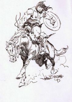 John Buscema Sketch