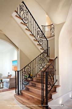 Staircase from elegant Houston, TX estate. Photographed by Chipper Hatter.  #interior #decor