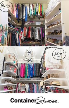 Fashion Blogger, Cassie Freeman, needed a closet makeover! See how elfa and Contained Home Organizer, Alison Thompson, transformed her space.
