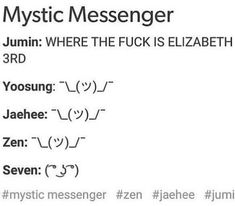 MMemes ϟ mystic messenger - #23 ¿y Elizabeth? - Wattpad