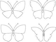 Moldes para hacer mariposas de fieltro