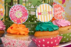 Colorful garden party......the pictures on this link are amazing!