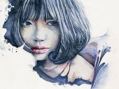 Image result for watercolour paintings giclee prints female portraits images
