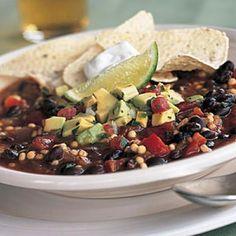 Quick Vegetarian Chili with Avocado Salsa | CookingLight.com