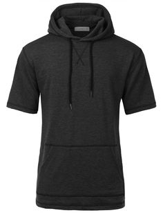 Stay trendy and looking casual in this soft blend short sleeve hoodie sweatshirt top. This longline inspired hoodie top is designed for for all streetwear enthusiasts. Crafted from a soft terry materi 2xl
