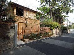 Fence Screening, Zen Space, Outer Space, Trellis, Facade, Exterior, House Design, Landscape, Architecture