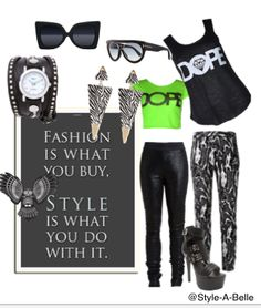 Play around and create your own styles with #Style-A-Belle. #SABcollage #fashion