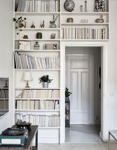 4 stylish doorway bookshelves - via cocolapinedesign.com