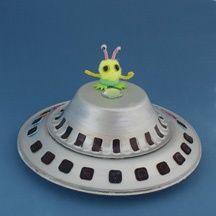 Kids Craft - Paper Plate UFO Alien Space Craft