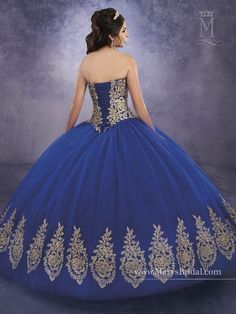 Mary-s Bridal Princess Collection Quinceanera Dress Style Xv Dress, Vestido Charro, Mexican Quinceanera Dresses, Sweet 15 Dresses, Bridal Wedding Dresses, Mary's Bridal, Quince Dresses, Dress Collection, Princess Collection