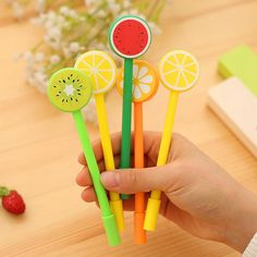 / lot Back to School Girl Boy Souvenirs Fruit Pen Gift Happy Birthday Party Supply - DIY Stationery Korean Stationery, Stationery Pens, Kawaii Stationery, Cute School Supplies, Office And School Supplies, Party Supplies, School Ideas, Cute Stationary, Stationary Store