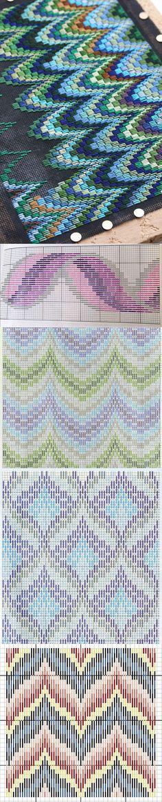 35 Best Ideas For Embroidery Bordado Patterns Diy Embroidery Designs, Etsy Embroidery, Embroidery Flowers Pattern, Embroidery Works, Embroidery Stitches, Hardanger Embroidery, Broderie Bargello, Bargello Needlepoint, Needlepoint Stitches