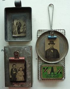 ⌼ Artistic Assemblages ⌼ Mixed Media, Journal, Shadow Box, Small Sculpture & Collage Art - altered tins