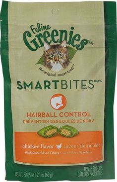 Greenies Feline SmartBitesTM Hairball Control Chicken -- 2.1 oz(packof2) *** Read more reviews of the product by visiting the link on the image.