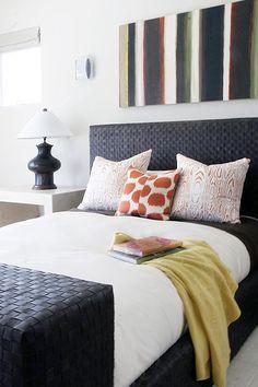 Madeline Weinrib Sunburst Mu Ikat Pillow, via designer Elsa Soyars
