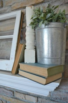 Image result for farmhouse decor old books