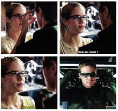 Arrow - 2x09 Three Ghosts - Felicity & Oliver - Like a hero. - FINALLY! no more smears of makeup lol