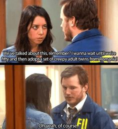 Andy and April -- Parks and Recreation. Parks And Rec Memes, Parks And Recreation, Parcs And Rec, Andy And April, All The Things Meme, Funny Things, Funny Meems, April Ludgate