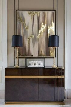 Do you need some living room design inspiration? Check out these awesome examples of Luxury Furniture Design for your contemporary living room, specifically Modern Console Tables … Modern Entryway, Entryway Decor, Foyer, Entryway Ideas, Entryway Lighting, Hallway Ideas, Entry Way Design, Wall Design, Design Art