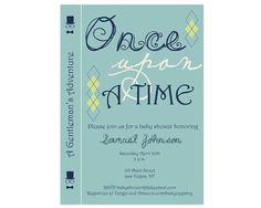 Baby Shower Book Invitation Gentleman Storybook by BowTieInvites